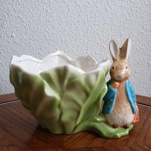 Beatrix Potter Rabbit Planter 1998 Teleflora